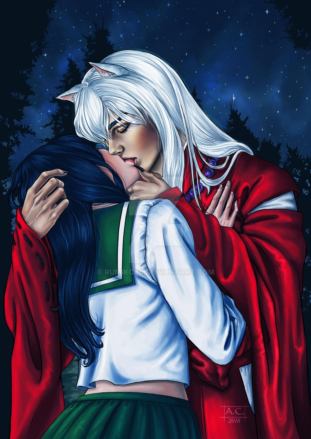 Kagome And Sesshomaru Kiss – images free download