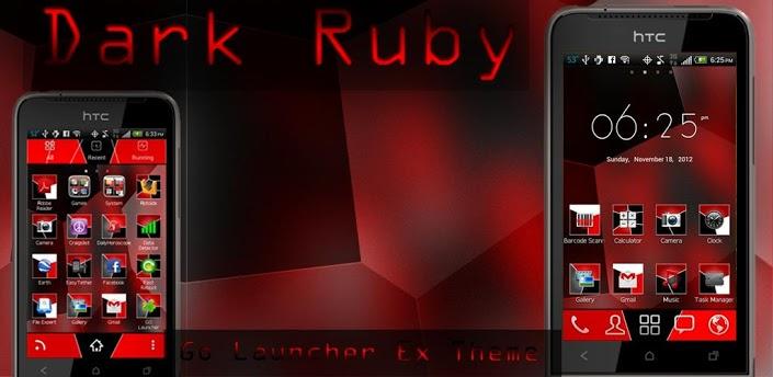 Dark Ruby Go Launcher Theme by moschdev on DeviantArt