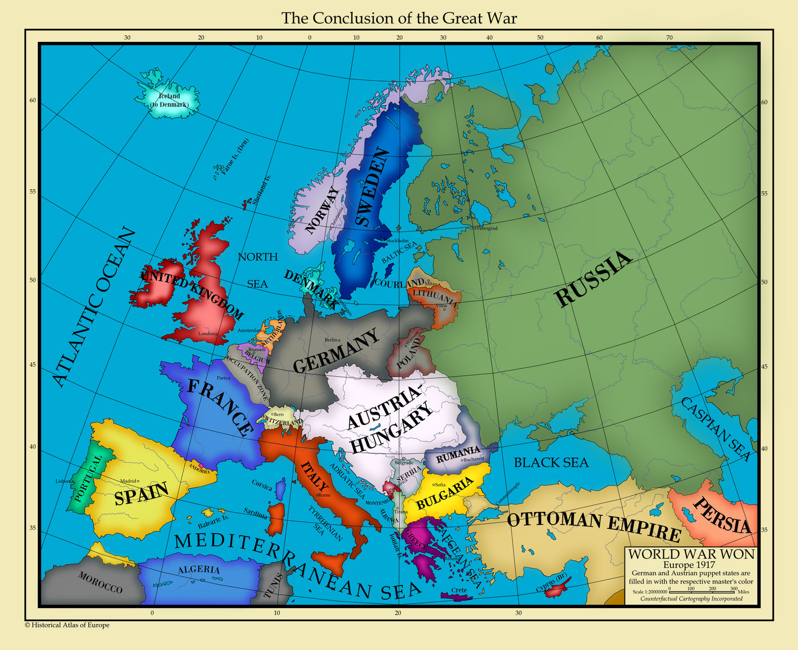 map of europe 1917 Europe 1917 by AHImperator on DeviantArt