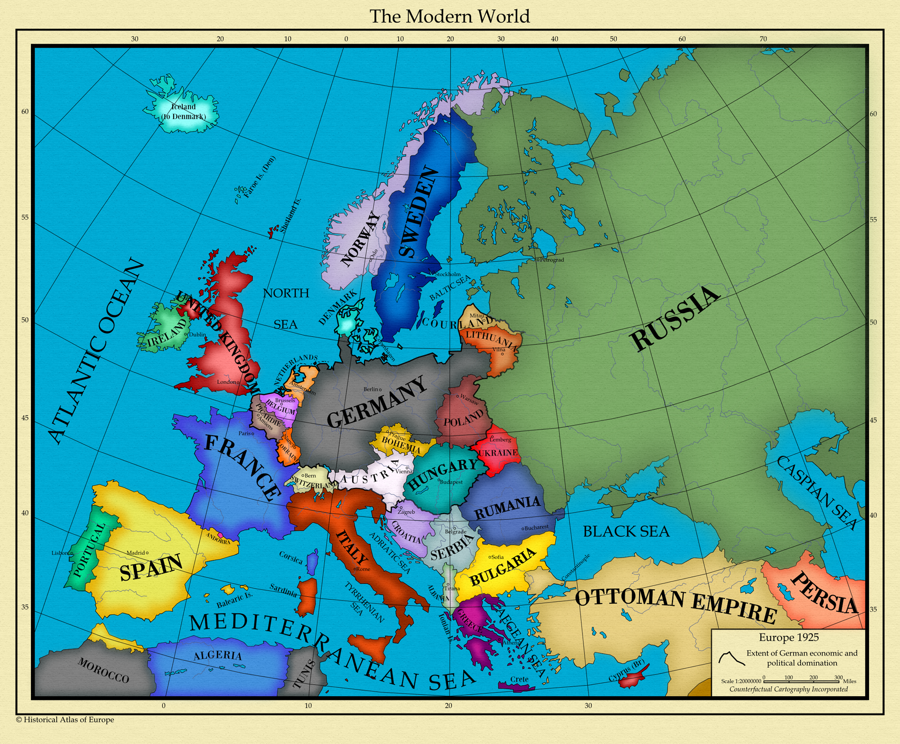 map of europe in 1925 Europe 1925 by AHImperator on DeviantArt