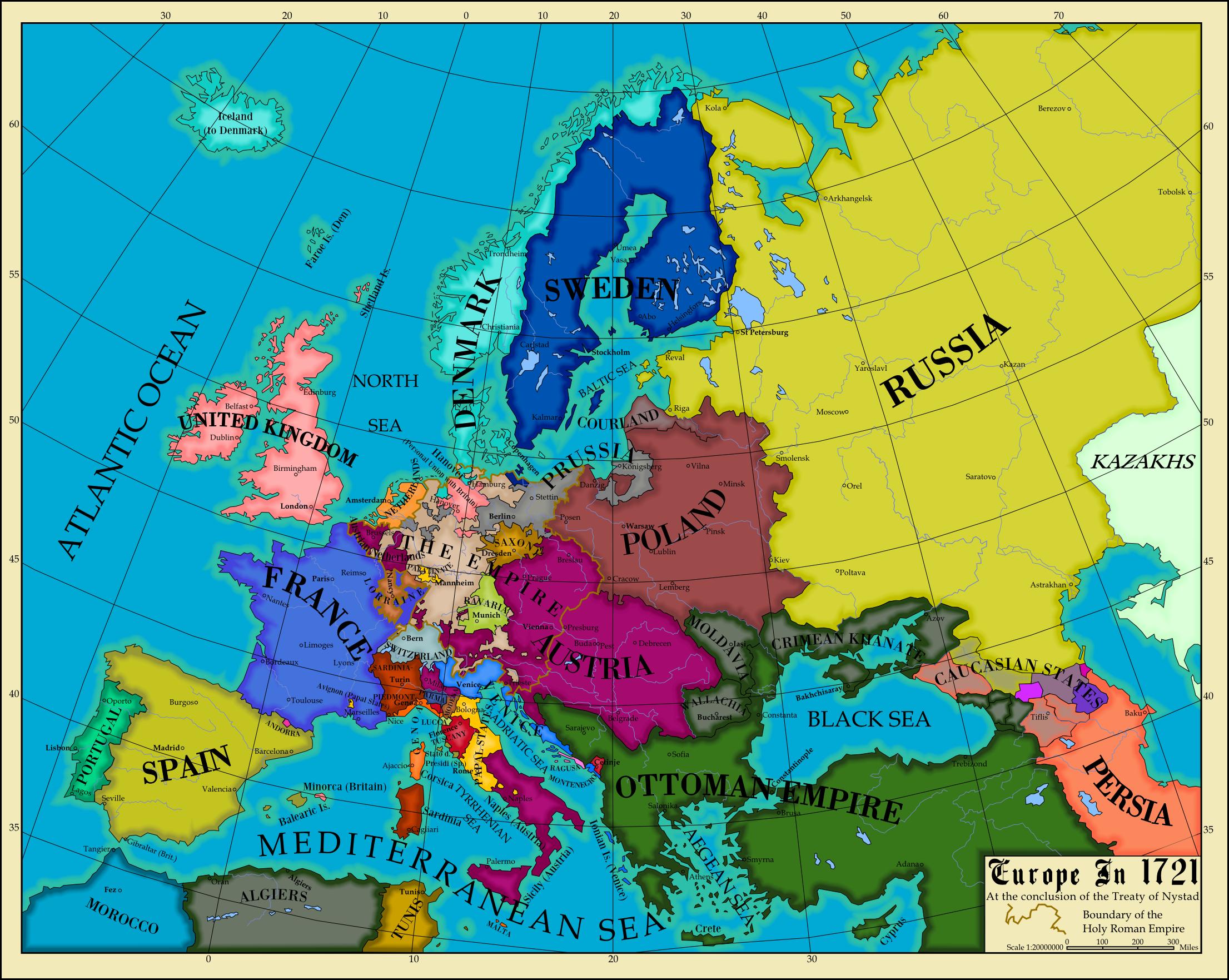 Europe By AHImperator On DeviantArt - Europe map 1648 westphalia