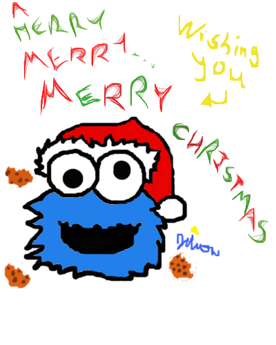 Cookie Monster Christmas Card By Skipperthenewt On Deviantart