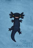 One Happy Axolotl by weeredfrog