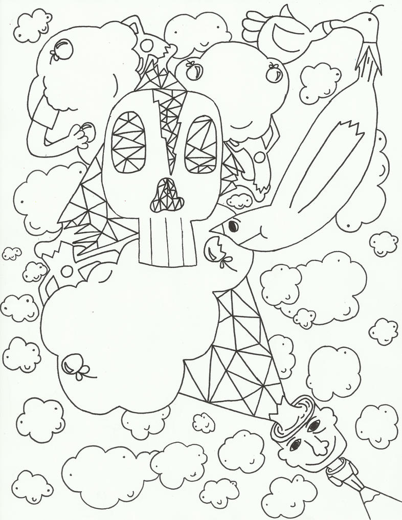 Image Result For Clouds Coloring Page