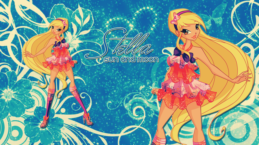 stella from winx club sun and moon wallpaper by chandsharma on deviantart. Black Bedroom Furniture Sets. Home Design Ideas