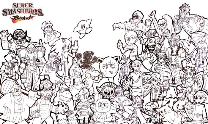 Super Smash Bros Coloring Pages - Democraciaejustica
