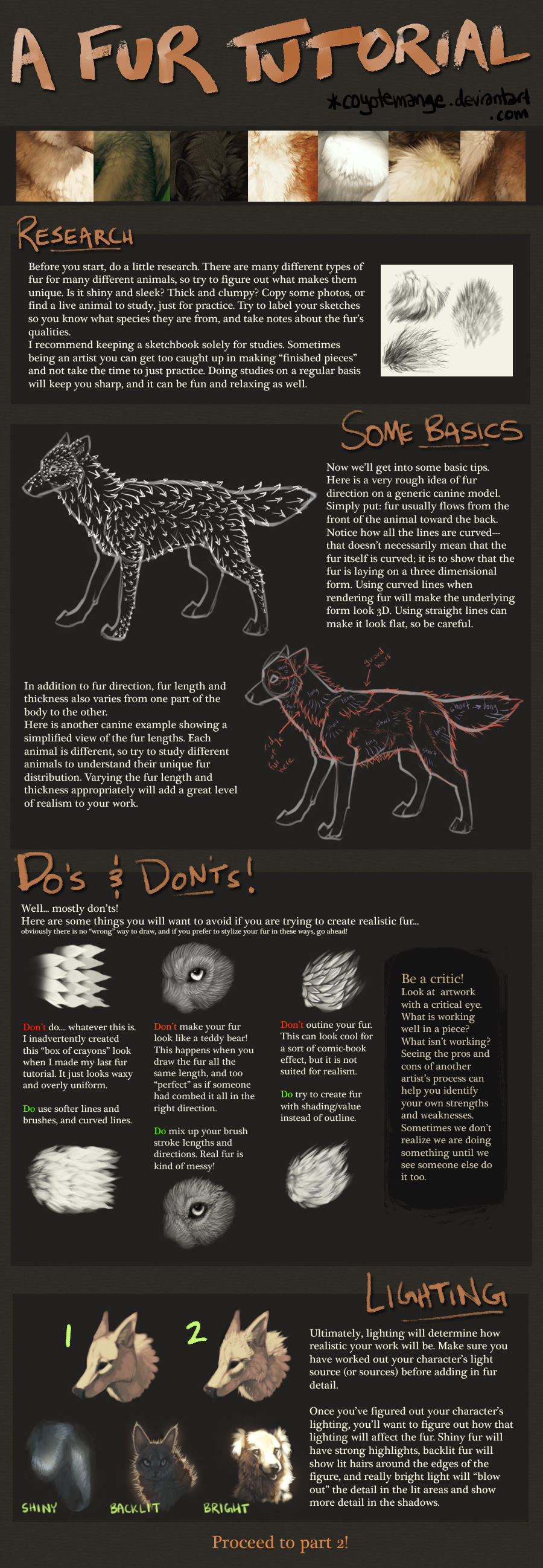 A Fur Tutorial: Part 1 by CoyoteMange