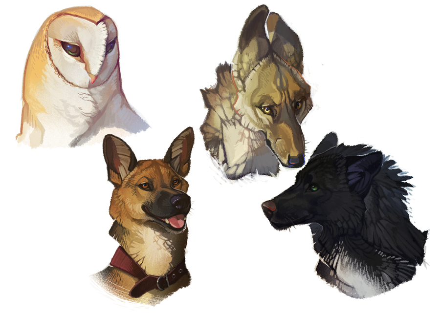 Floating Heads by CoyoteMange