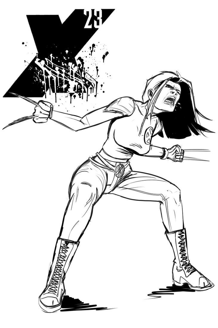 X-23 sketch by bgolden1