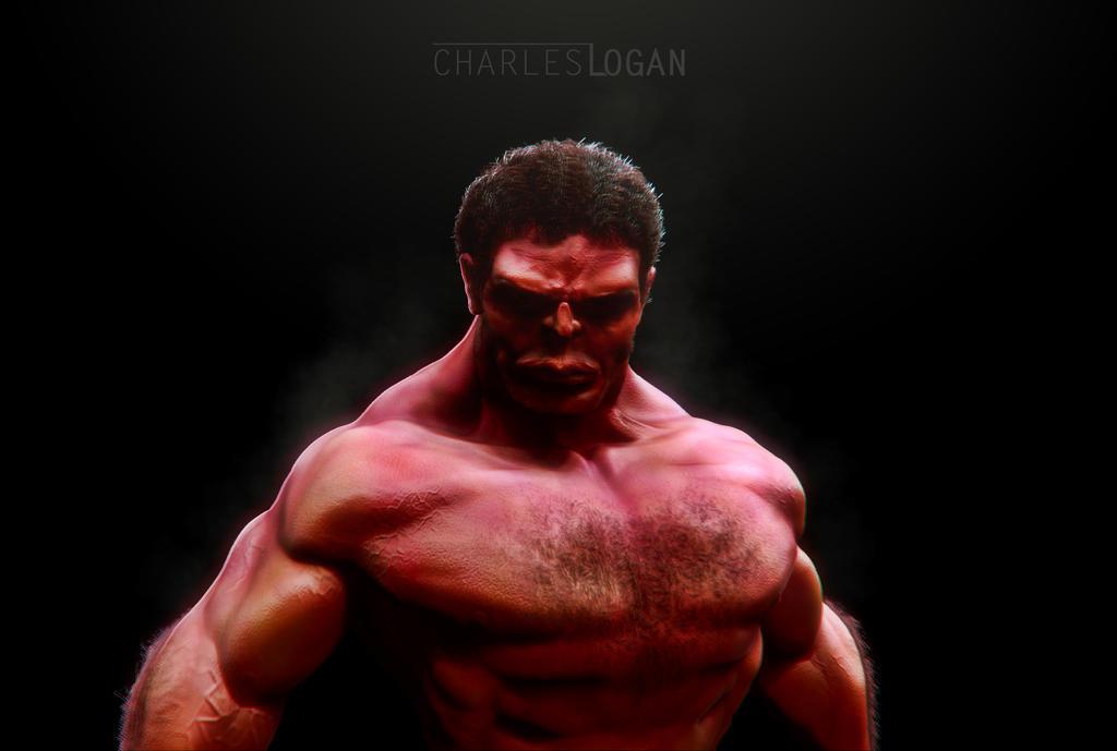 Red Hulk by CharlesLogan