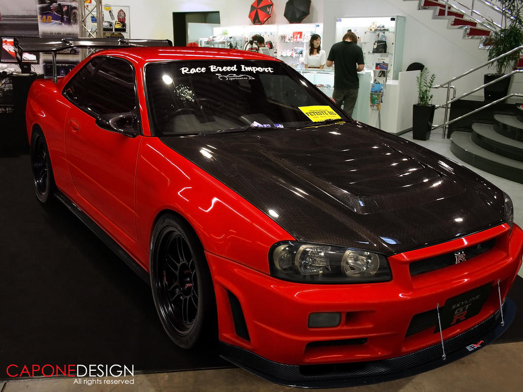 Skyline R34 The New Red Devil By Caponedesign On Deviantart