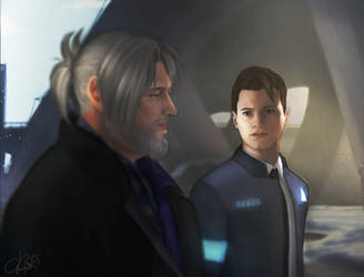 Hank And Connor by CDArtCD