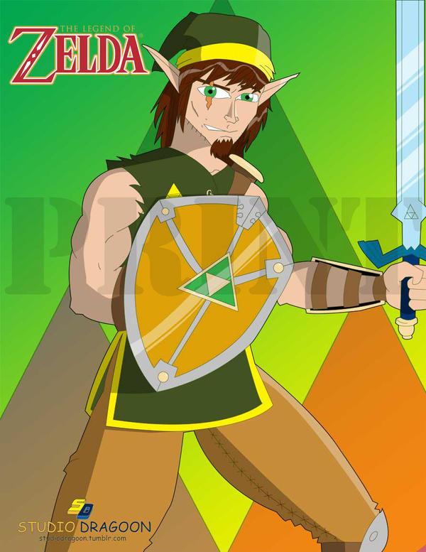 Link - Legend of Zelda fan art by dragoonx77