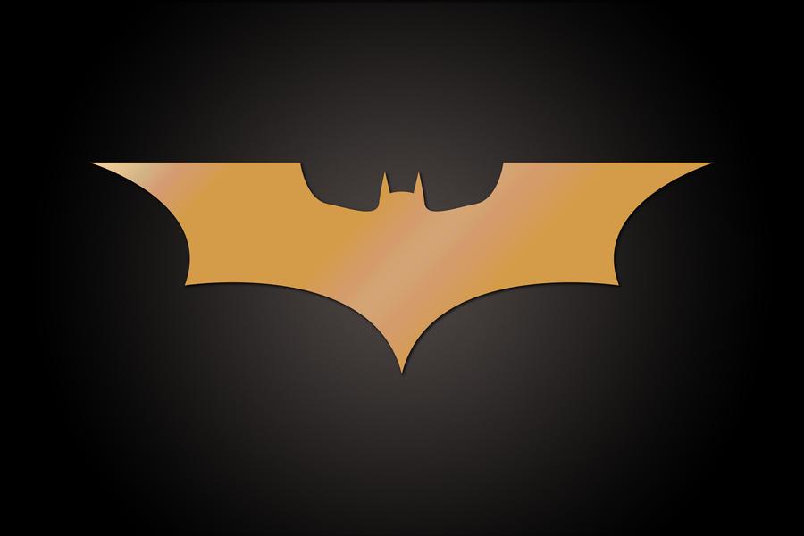 Batman golden movie logo by freeco on DeviantArt