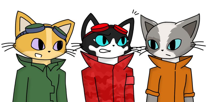 Blinx OCs - Set 1 by catgirl140