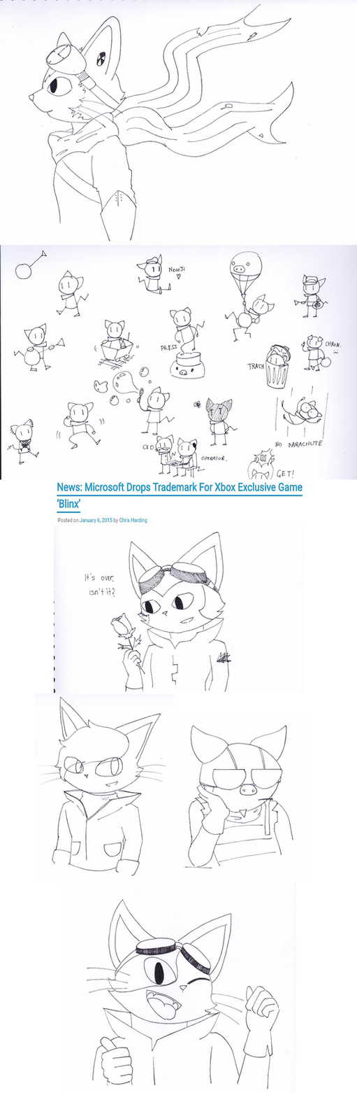 BLiNX Ink Drawings by catgirl140