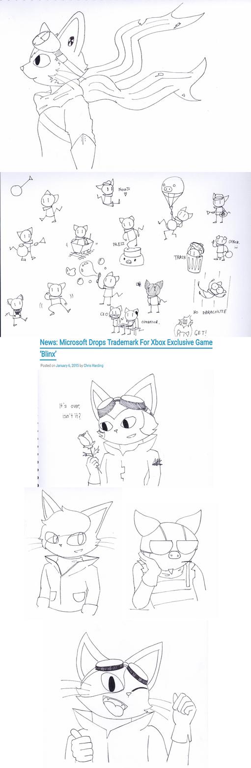 BLiNX Ink Drawings by catgirl140