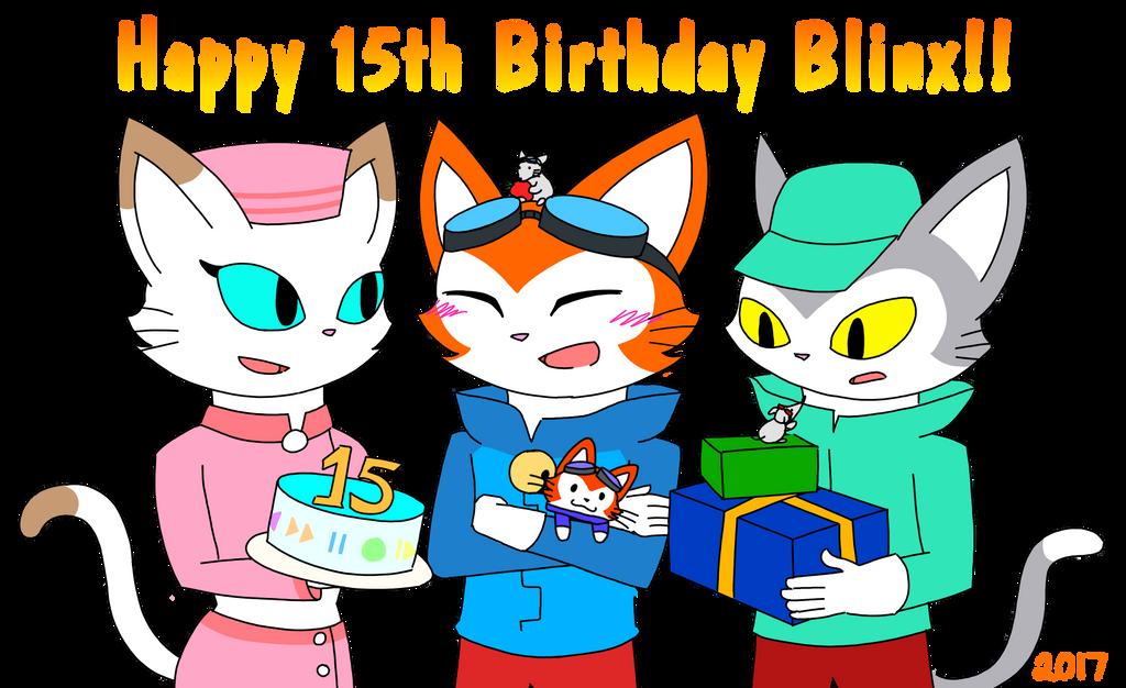 Happy 15th Birthday Blinx!! by catgirl140