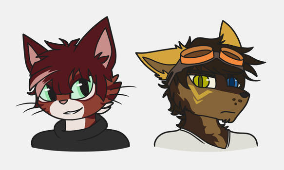 Commission - Cat Boy and Mutt Boy