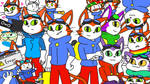 The Poorly Aged Blinx pfp Family by NipChipCookies