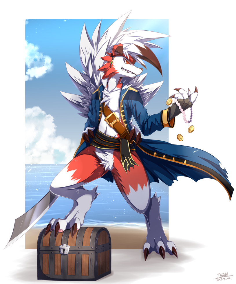 Pirate Lycanroc by ffxazq