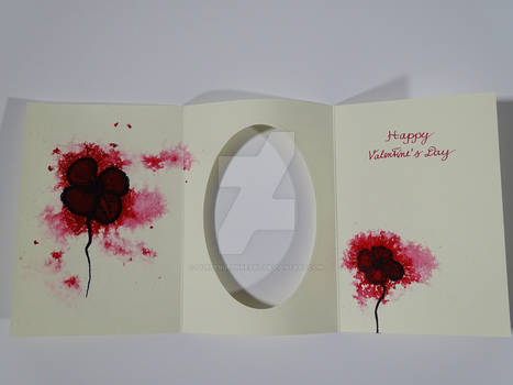 Valentine`s Card B / Watercolor + Ink Painting