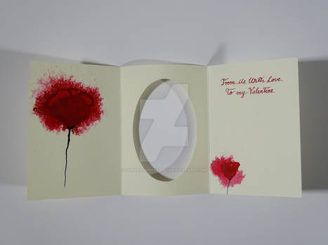 Valentine`s Card D / Watercolor + Ink Painting