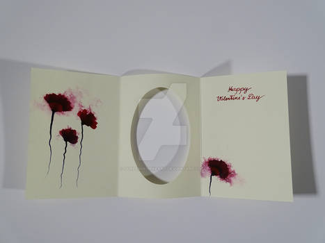 Valentine`s Card E / Watercolor + Ink Painting