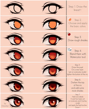 Eyes coloring tutorial v.2.0