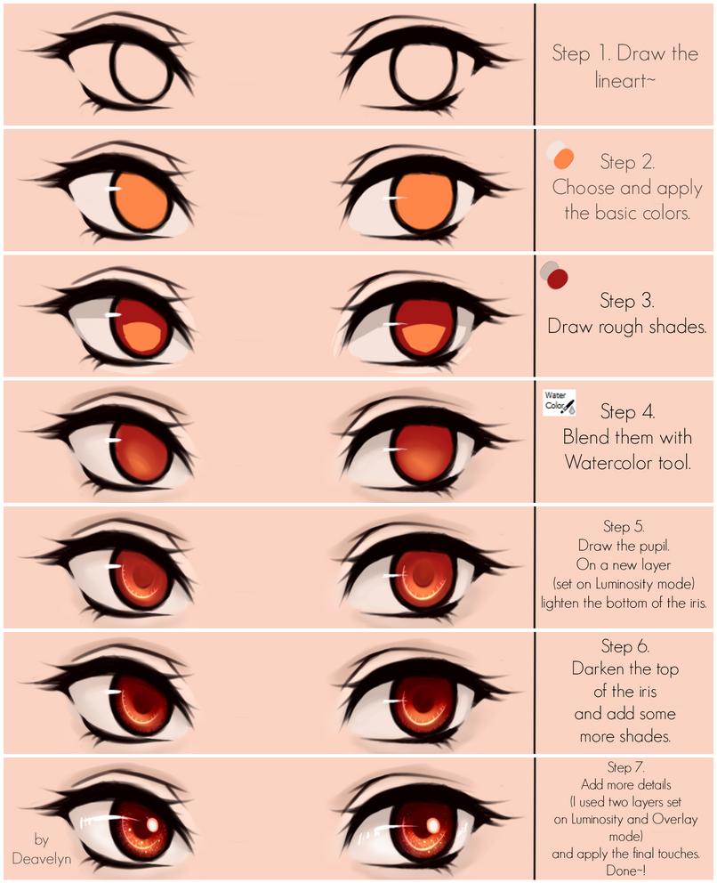 Eyes coloring tutorial v.2.0 by Maruvie on DeviantArt
