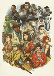 Fallout 4 - Companions by KerriAitken