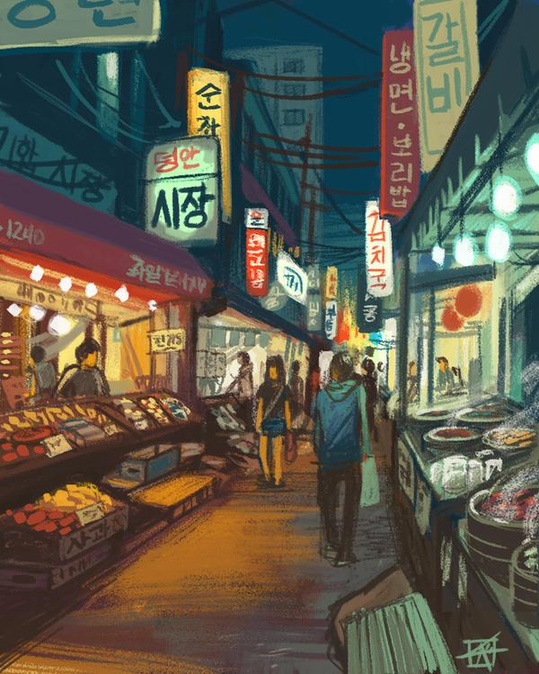 Night Market by KerriAitken