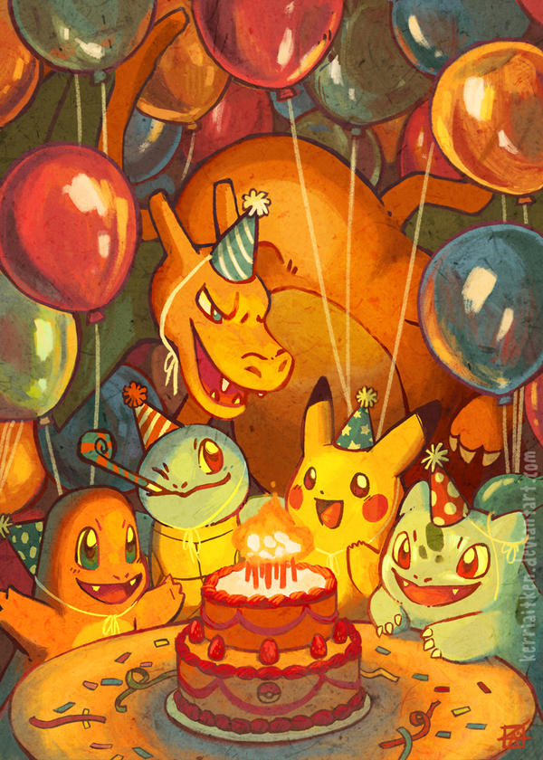 Pokemon 20th Anniversary by KerriAitken