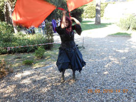Flag dance vampire cosplay
