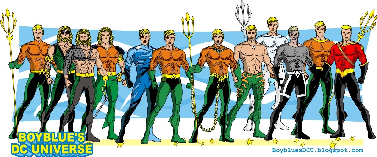 Evolution Of Aquaman Aquaman Costumes By Boybluesdcu On
