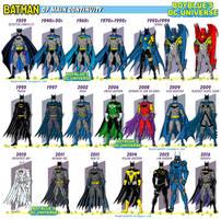 Batman - costume history of the main continuity by BoybluesDCU