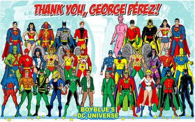 Homage to George Perez JLA JSA Pinup #195 by BoybluesDCU