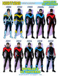 DIck Grayson as Nighwting - Costume History