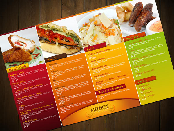 Menu mitho 39 s restaurant by gustavitos on deviantart for Artistic cuisine menu