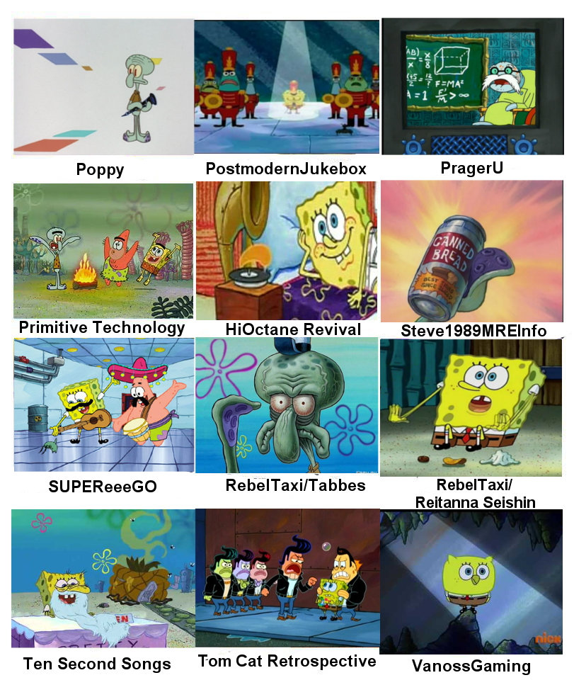 my favorite youtubers as portrayed by spongebob 2 by assassinj2 - Spongbob 2
