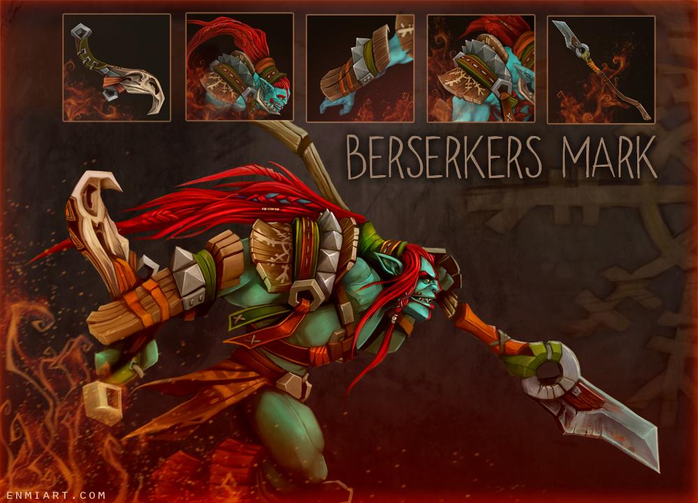 Huskar - Dota 2 Set Berserkers Mark by enmi