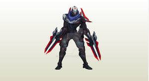 Project: Zed papercraft WIP!