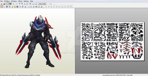 Project: Zed - Papercraft model template
