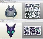 Kindred: Masks - Papercraft model template