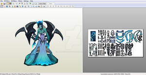 Ghost Bride Morgana - Papercraft model template