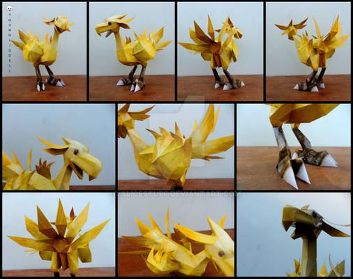 Final Fantasy 9 - Chocobo papercraft