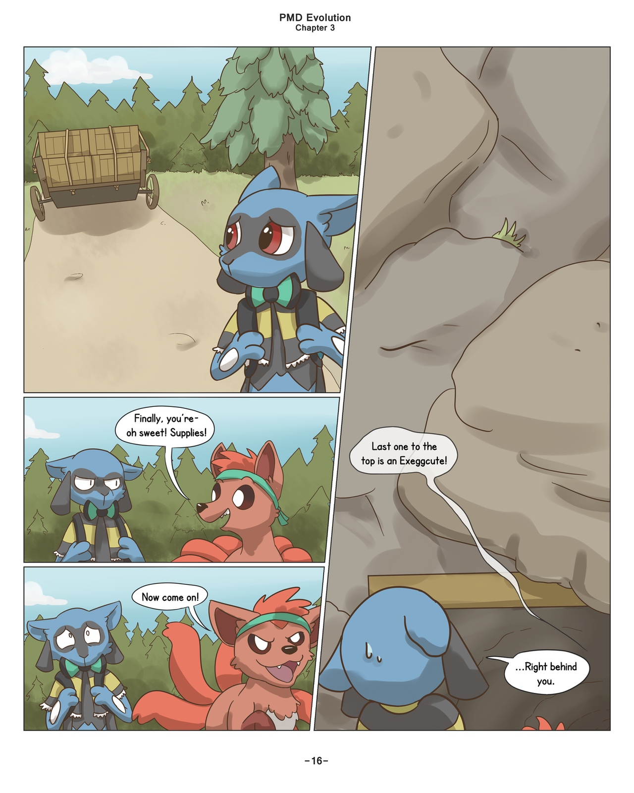 PMD Evolution: Chapter 3 page 16 by Snapinator on DeviantArt on