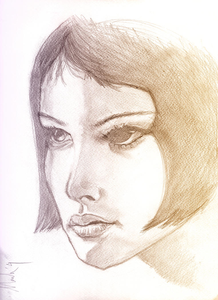 Natalie Portman Sketch by markhossain