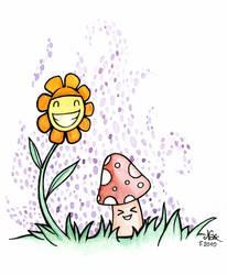 Flower and Mushroooom by SwissNax