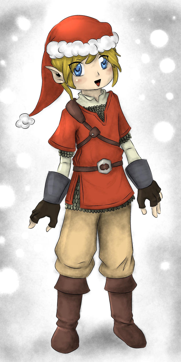 Merry Christmas - Chibi Link by Mifa13 on DeviantArt